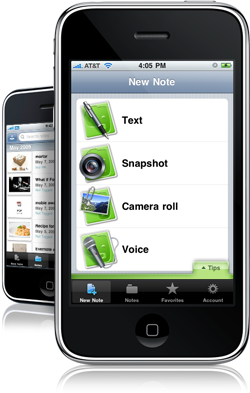 use Evernote on your iphone