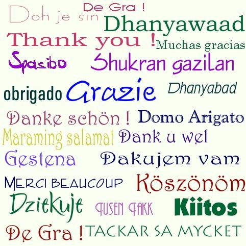 grazie spasibo arigato danke merci