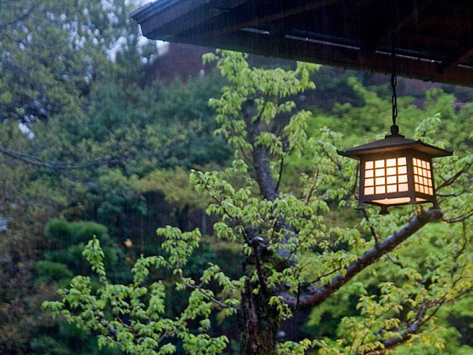 Japan garden rain lantern