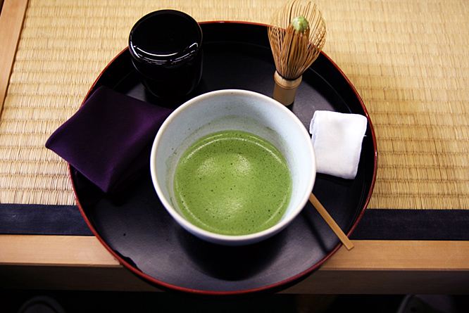 Japan: tea ceremony, stirred matcha