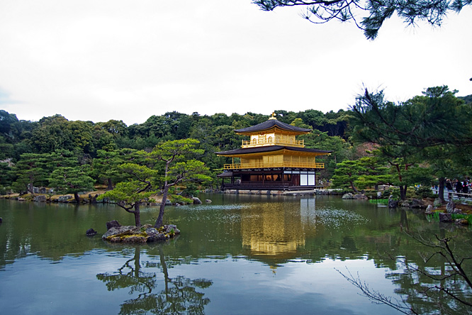 Japan, Kyoto, Kinkaku-ji temple
