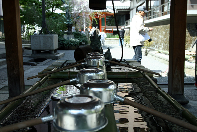 Japan, Kyoto, Shinto shrine, basins