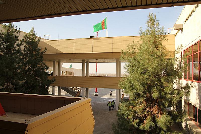 Airport in Ashgabat, Turmenistan