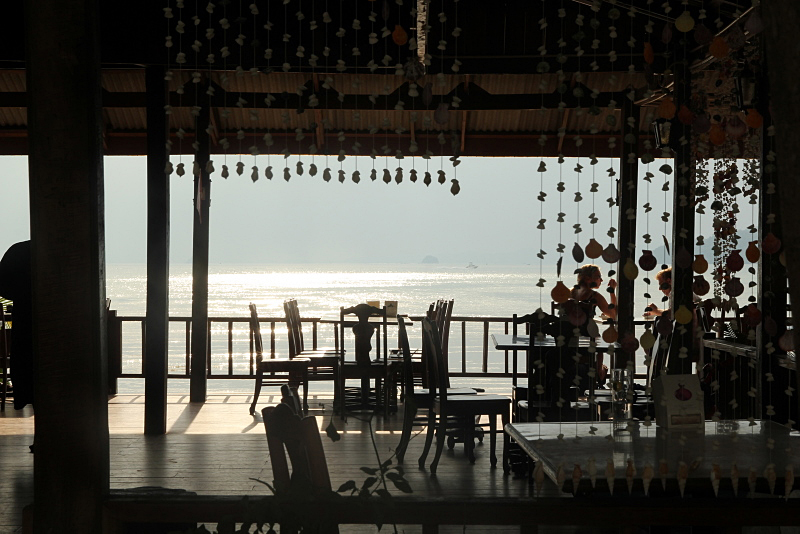 Restaurant by the beach, Thailand