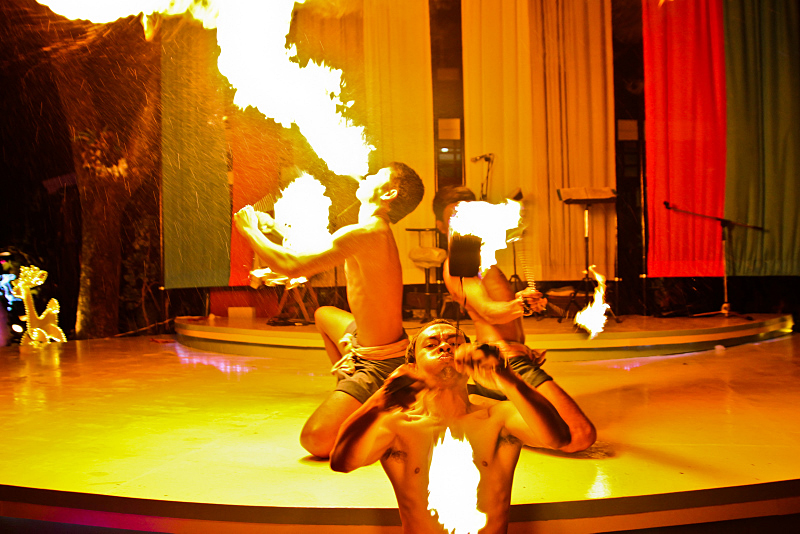 Fire show in Thailand