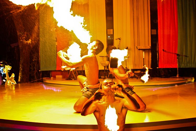 Fire show in Thailand