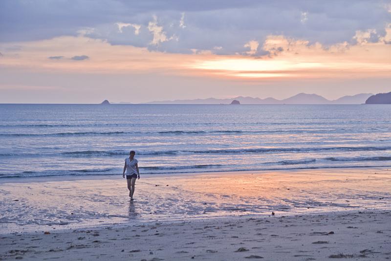Beautiful beach sunset in Thailand