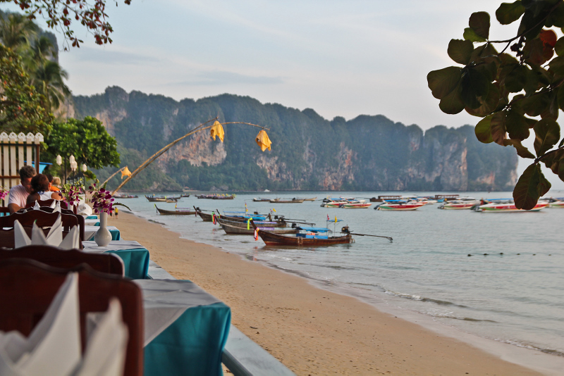 Restaurant in the beach, Thailand, Ao Nang
