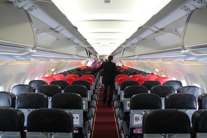 AirAsia jet inside