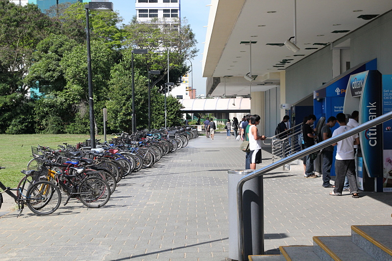 Singapore bicycles on subway station