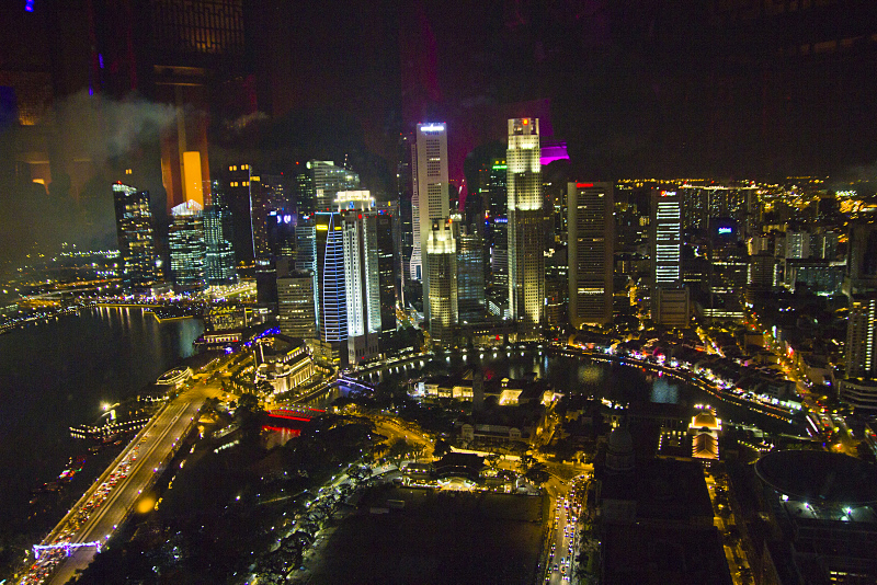 Singapore view from Swiss Hotel New Asia bar