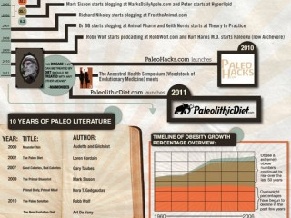 Paleolithic diet info-graphic