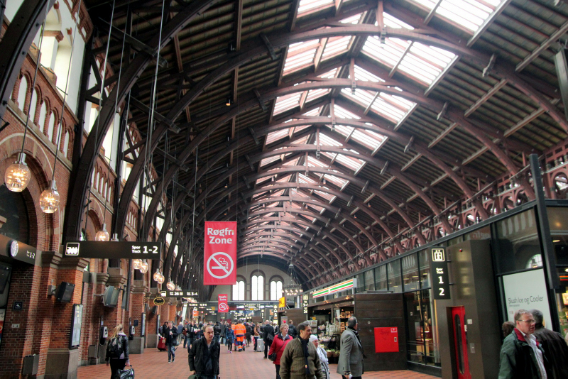 Copenhagen, train station